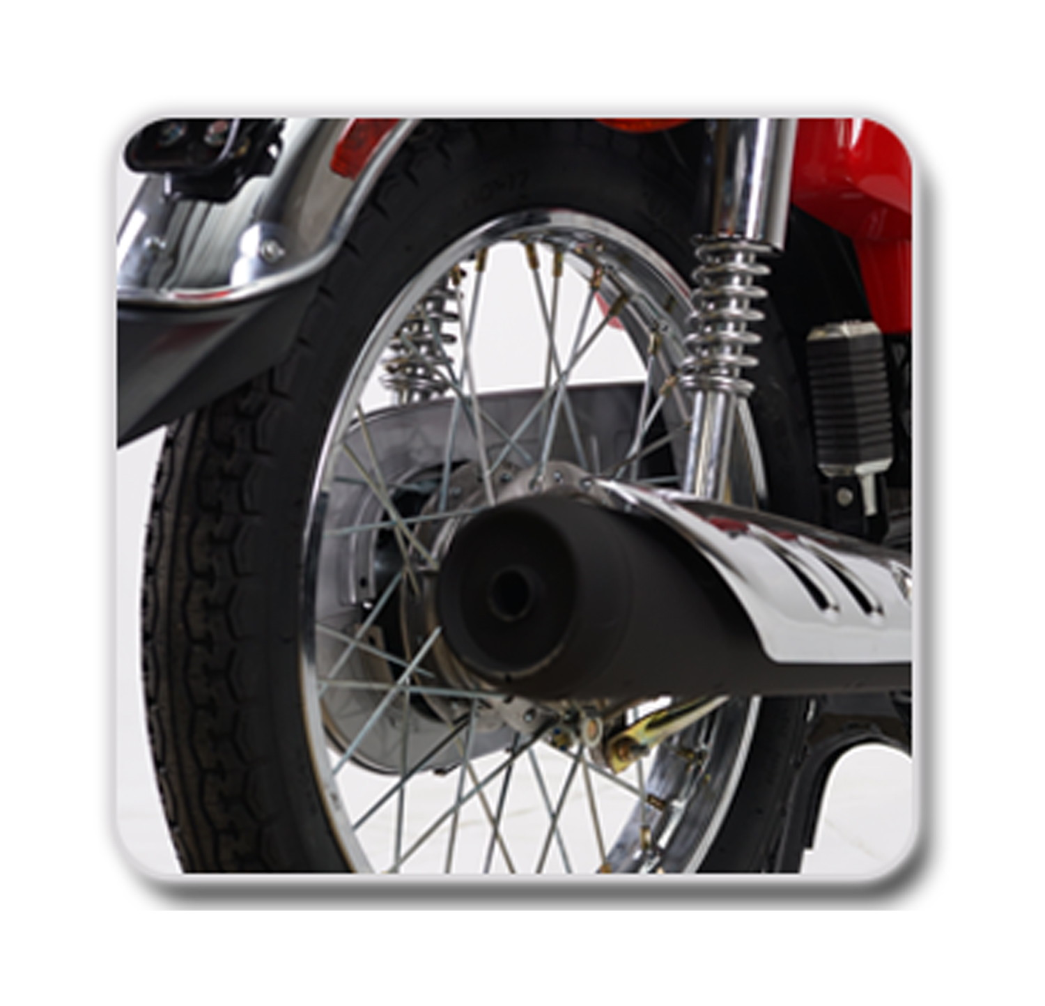 Rear Wheel with Amazing Grip and Durable Tube