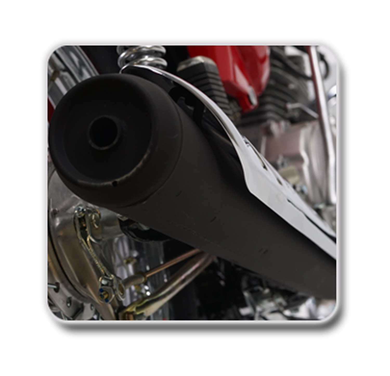 Latest Black Painted Silencer with Electrifying Sound