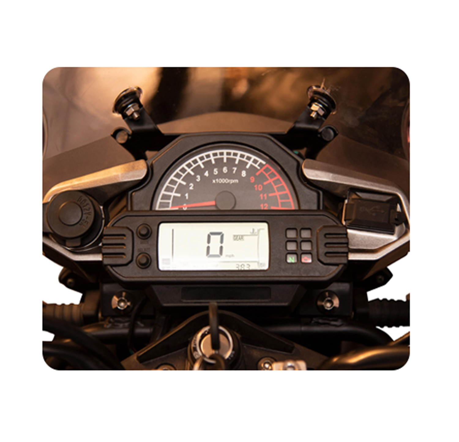 Digital and Analogue Meter with Mobile charger